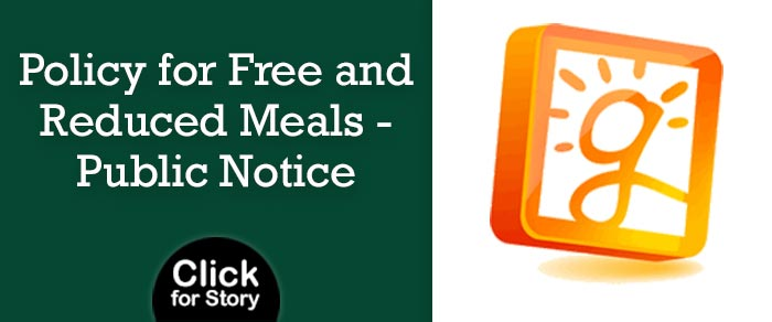 Policy for Free and Reduce Meals - Public Notice