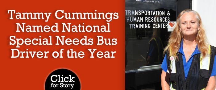 Tammy Cummings Named National Special Needs Bus Driver of the Year