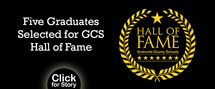 Five Graduates Selected for Greenville County Schools Hall of Fame