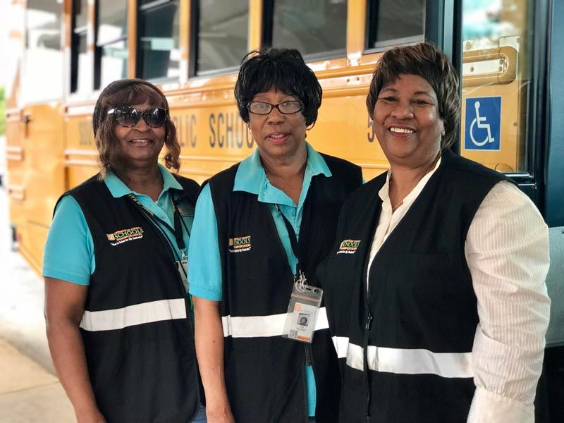 special needs bus driver and aides at Bryson Elementary