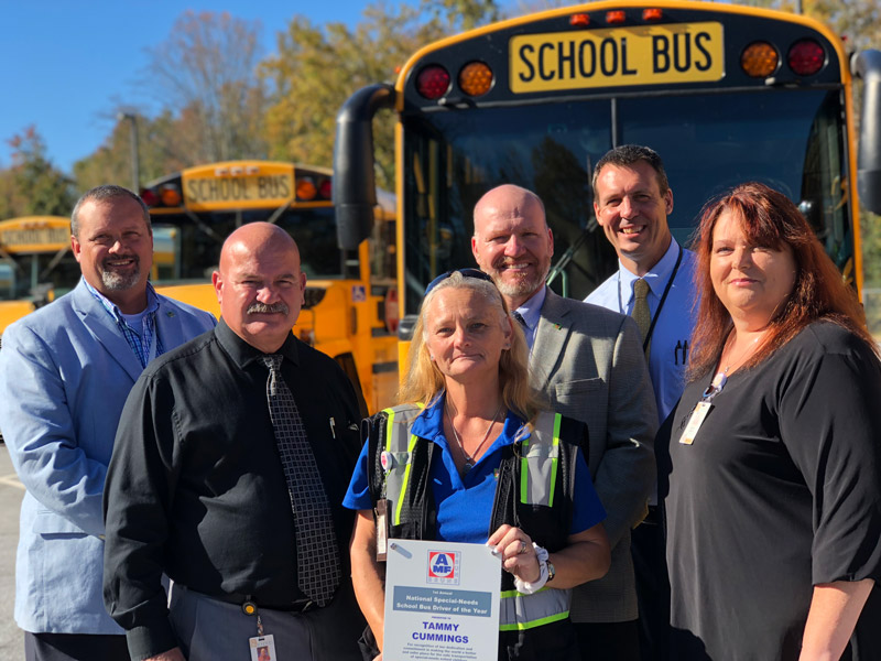 Tammy Cummings recognized as National Special Needs Bus Driver of the Year
