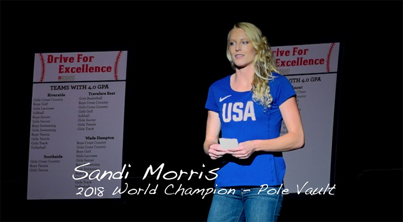 Sandi Morris Message to High School Athletes