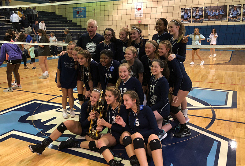 Mauldin Middle Wins County Volleyball Title