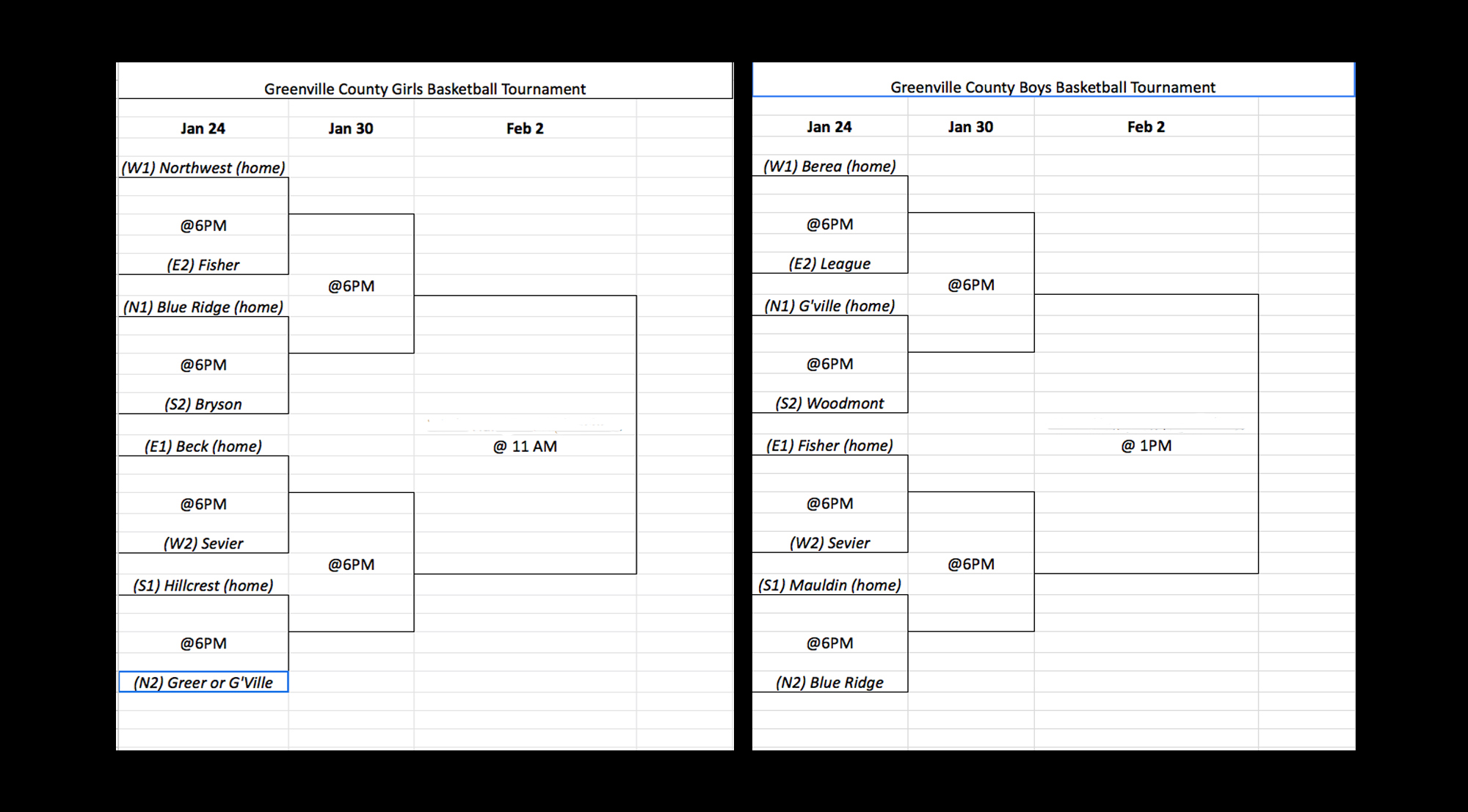 2019 GCS Middle School Basketball Tournament