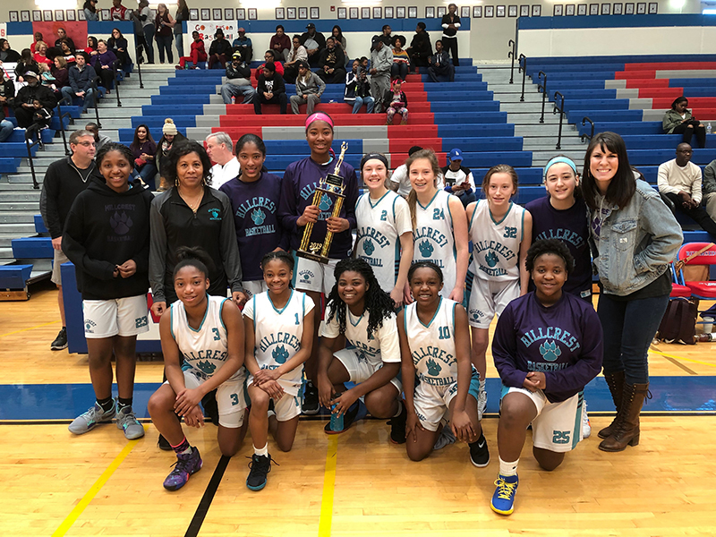 Hillcrest Middle Wildcats, 2019 Girls Basketball County Champions