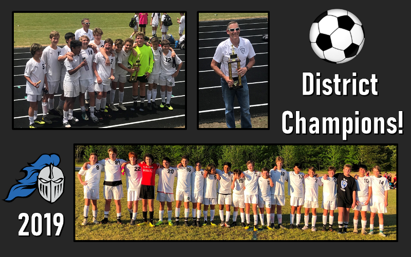 Boys Soccer 2019 District Champs