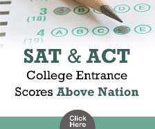 SAT and ACT College Entrance Scores Above Nation
