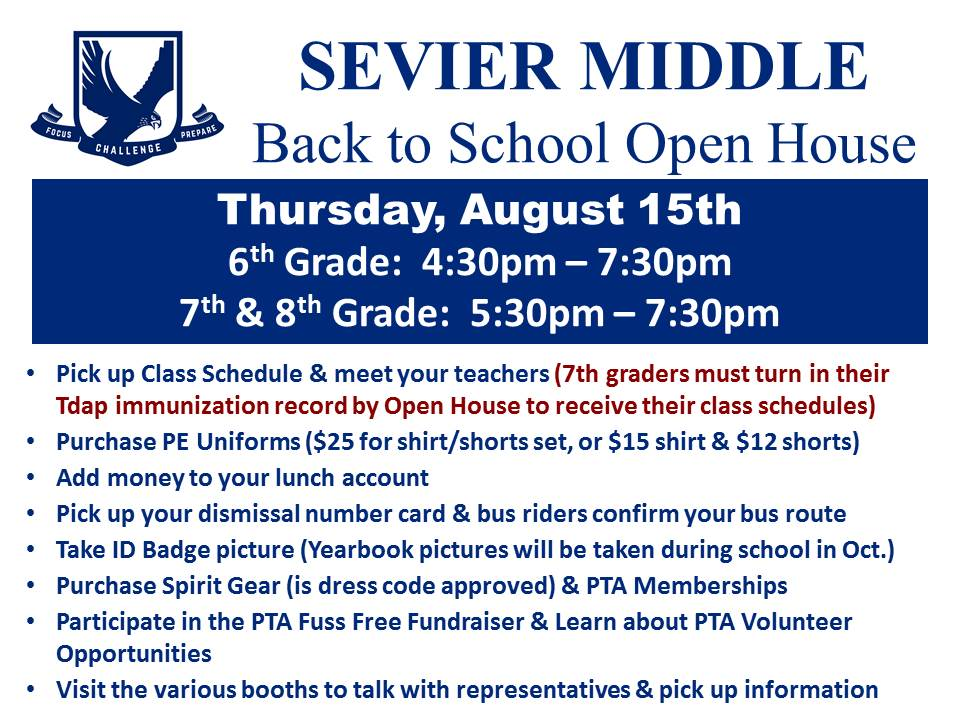 Open House information