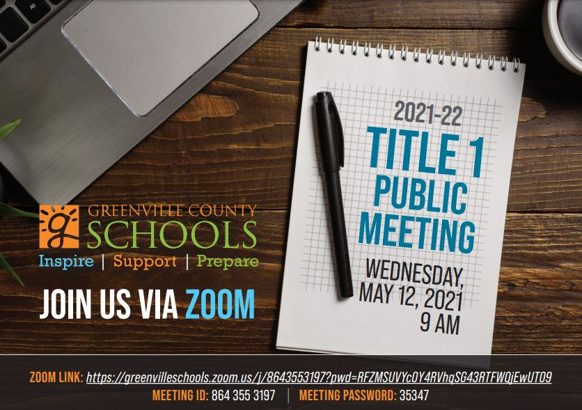Image of GCS Title 1 Public Meeting Announcement-Please click on Image to get PDF format