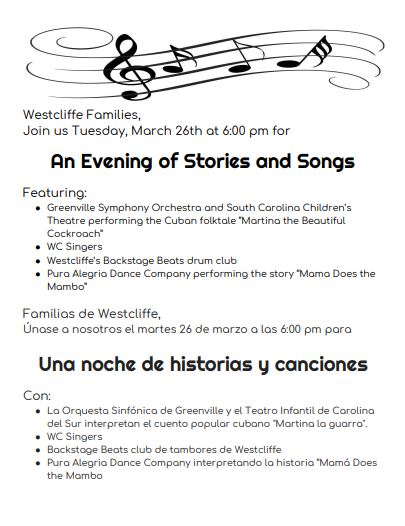 An Evening of Stories and Songs Event